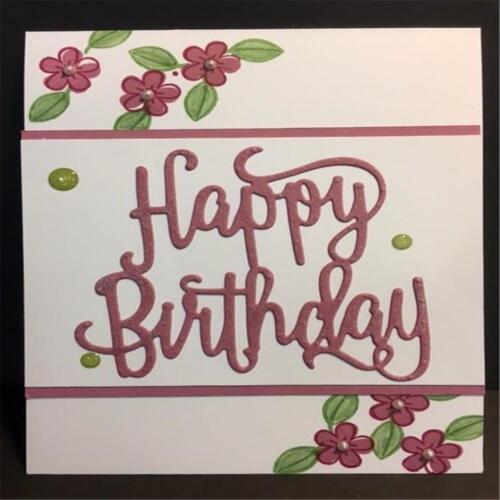 Happy Birthday Carbon Steel Cutting Die Craft Card Scrapbooking Stencil T