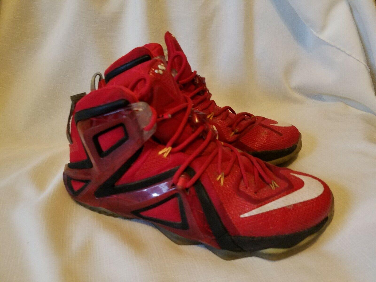 outlet store b3eb6 6c1dd Nike Lebron Lebron Lebron XII 12 Elite Team Red Mens Size 11 ...