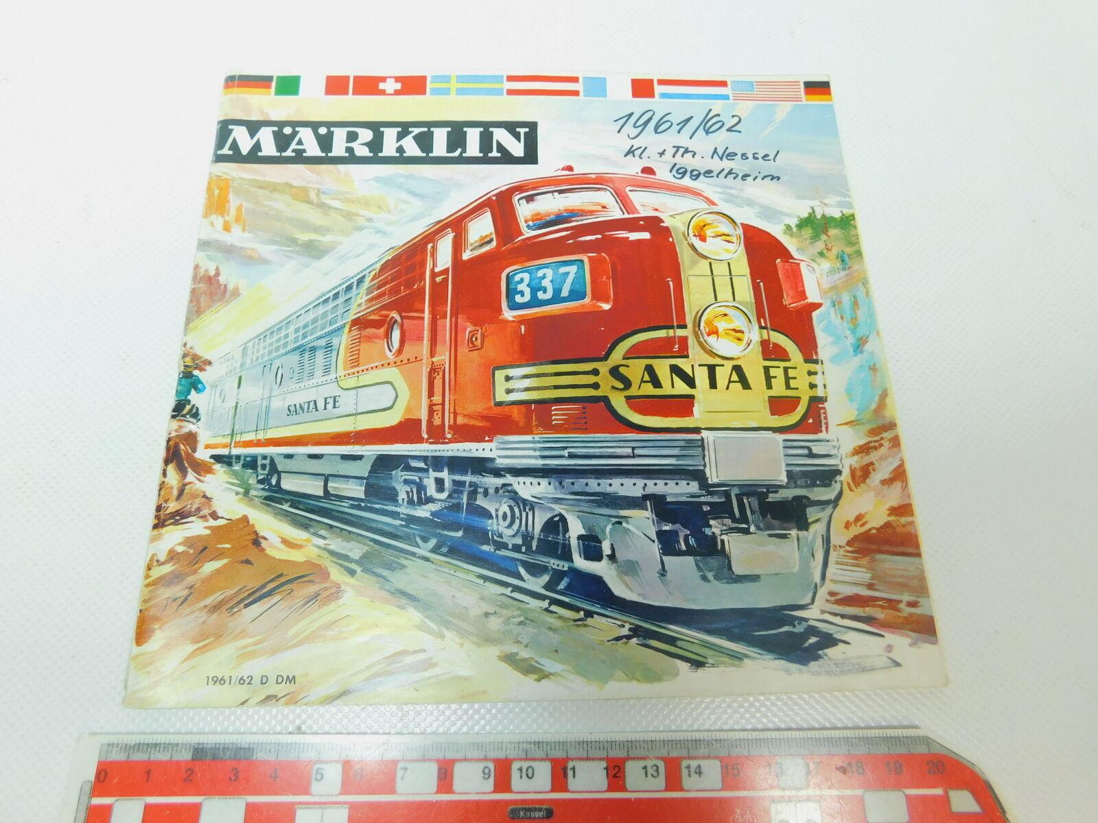 BP407-0,5 Märklin Catalogo 1961 62 D Dm senza Buono Acquisto