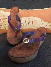 fb9021a51f4c item 6 Tory Burch Thora Cork Wedge Thong Sandals Purple Leather SZ 7 Flip  Flops -Tory Burch Thora Cork Wedge Thong Sandals Purple Leather SZ 7 Flip  Flops