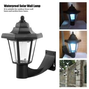 LED-Solar-Pared-Lampara-Impermeable-Exterior-Jardin-Paisaje-Hexagonal-Luz