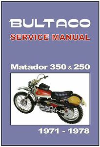 image is loading bultaco-workshop-manual-matador-350-250-1971-1972-