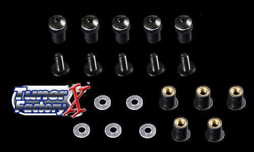 WINDSCREEN BOLTS SCREWS 10 Kit Suzuki GSXR 600 750 1000 1100 GSX-R 600 750 BLACK