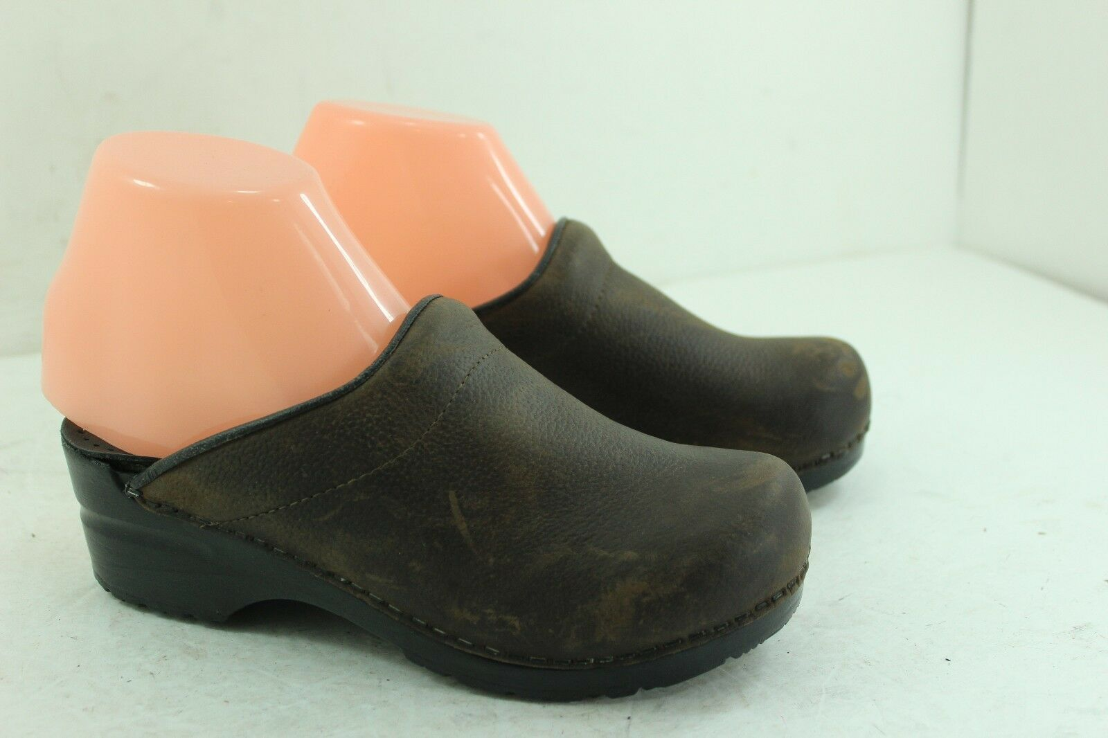 SANITA PROFESSIONAL SIZE 37 MULES  BROWNS   LEATHER WOMEN'S