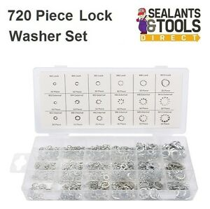 720 x STAINLESS STEEL ASSORTED SPRING INTERNAL EXTERNAL TOOTH  SERRATED WASHERS Screws & Bolts