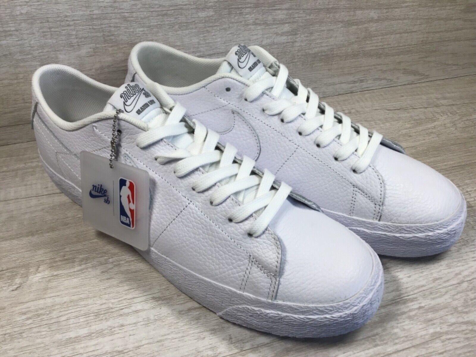 82469bb4086d Nike SB Zoom Blazer Low NBA Mens Size 8 White Skate Boarding Shoes ...