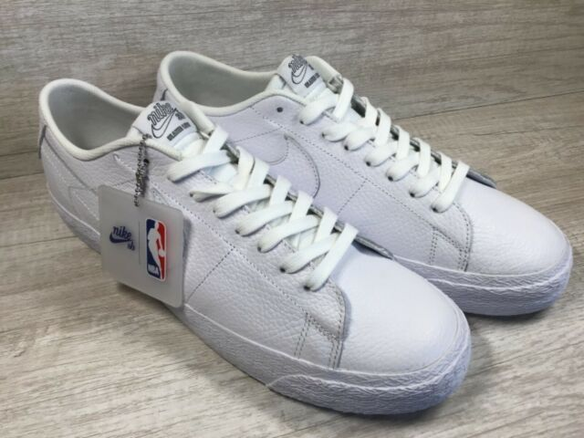 sports shoes 06ea8 b371a Men's Nike SB Zoom Blazer Low NBA White Skate Boarding Shoes AR1576-114.  Size 13
