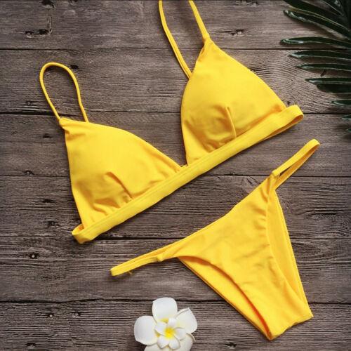 Damen Bikini Set Badeanzug Bademode Push Up Schwimmanzug Tankini Bendeau Strand