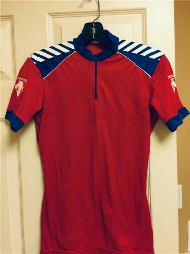 Vintage 80s DESCENTE Cycling Jersey Size XXL Half Sleeve JAPAN White Red new with tags