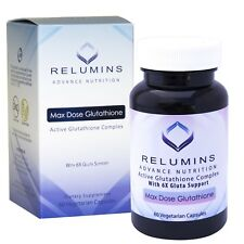 Relumins Advance White Active Glutathione Complex w/ 6x Boosters - 60 caps - NEW