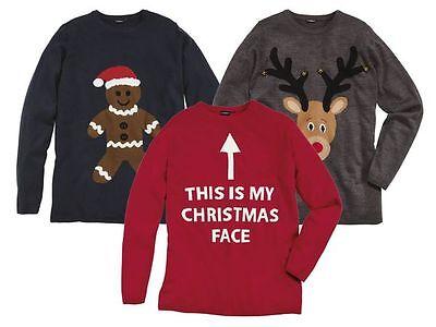 Livergy Men's Christmas Sweater Pullover Sweater Christmas Shirt New (R8) | eBay
