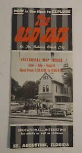 Vintage Travel Brochure The Old Jail St Augustine Florida Historical Map 1950's
