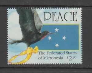Micronesia-Stamps-1991-2-50-Frigatebird-amp-Flags-Operation-Desert-Storm-MNH