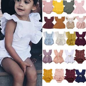 Newborn-Infant-Baby-Girl-volants-retrocroisement-Ange-body-combinaison-robe-tenue