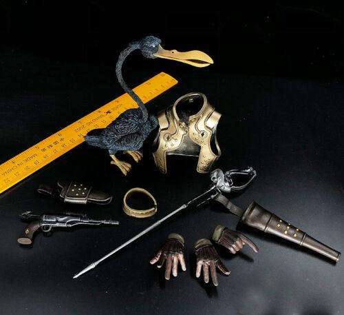 "HotToys 1//6 Scale Captain Harlock Retro Breastplate weapon hand bird F12/"" Action"
