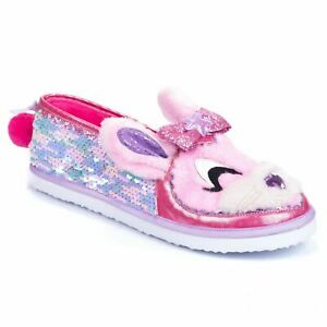 Irregular-Choice-039-Some-Bunny-To-Love-039-A-Pink-Sequin-Bunny-Slippers