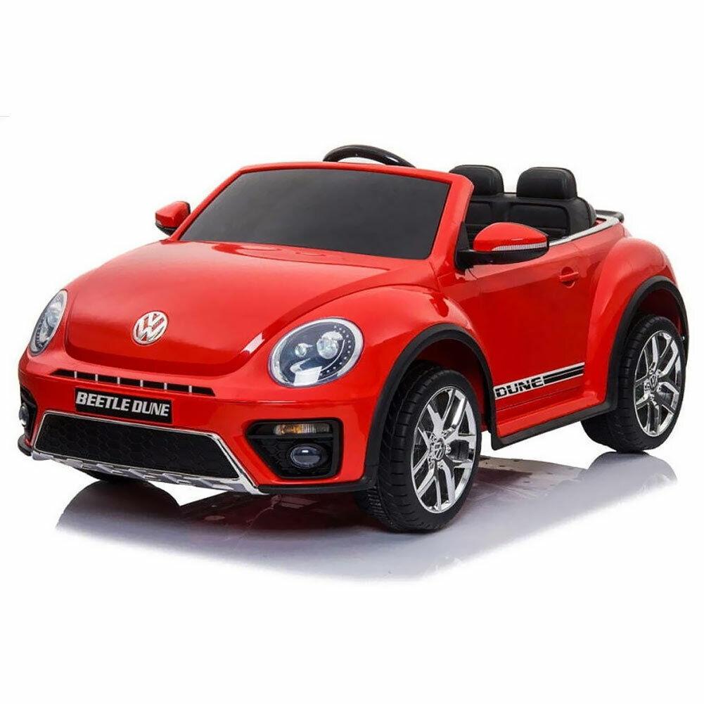 Auto Elettrica Bambini Volkswagen Beetle Dune 12V MP3 USB Fari Telecomando Rossa