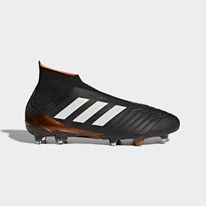 adidas Predator 18+ FG Soccer Cleats Sizes 8.5-13 Core Black White ... 35539bc9917e2
