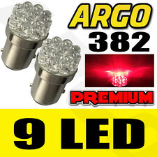 2X T20 1156 BA15S 382 P21W 9 LED CAR TAIL BRAKE SIGNAL LIGHT LAMP BULB