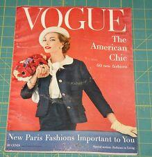 March Vogue 1957 Rare Vintage Vanity Fair Fashion Design Collection Magazine