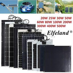 Sunpower 20 25 30 50 60 80 100watt Elfeland Solar Panel
