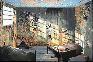 image is loading 9 foot hospital insane asylum wall mural halloween - Halloween Wall Mural