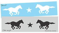 Country Prim Stencil Running Horse Gallop Mustang Star Western Border Art Signs