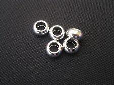 2 Metallperlen rund 12x10mm silberfarbig Perlen basteln neu 4452