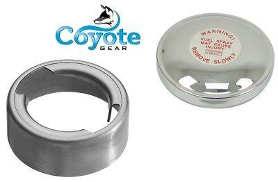 Steel Weld Bead Beaded Filler Neck Bung /& Motorad Vented Gas Cap Coyote Gear