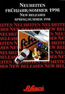 1009sch-SCHUCO-Nouveautes-printemps-ete-1998-prospectus-Modele-Voitures-Brochure
