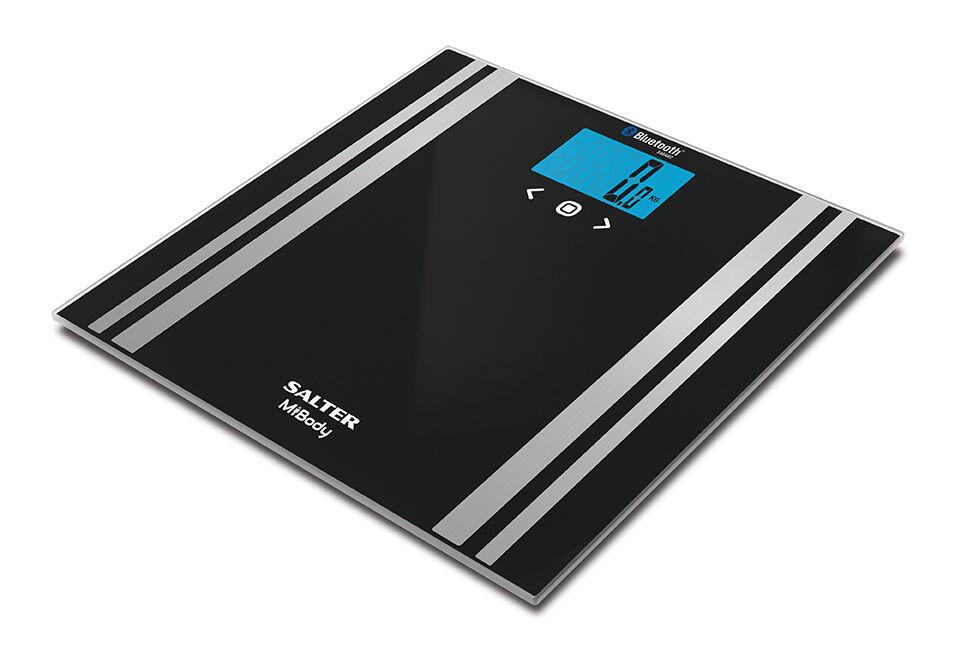 Salter 200 kg mibody bleutooth Numérique Analyseur salle de bains échelles-Noir