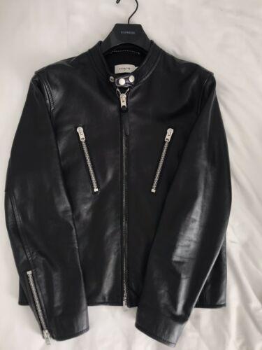 COACH Men's Racer Black Leather Jacket Size 50 Aut