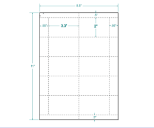 "3.3"" X 2"" 60# Matte 410308 Good Taste Liberal White Postage Tray Tags 10/sheet"