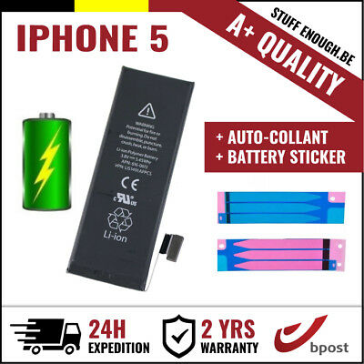 A+ Replacement Remplacement Battery/batterij/batterie +stickers For Iphone 5