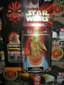 Hasbro Star Wars Episode 1 Yoda with Jedi Council Chair Action Figure New!