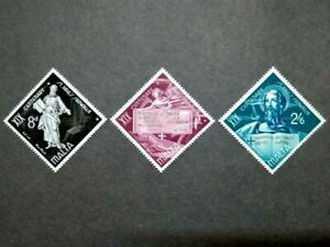 1960 Malta The 1900th Anniversary Of St. Paulus Shipwreck Complete Set - 3v MLH