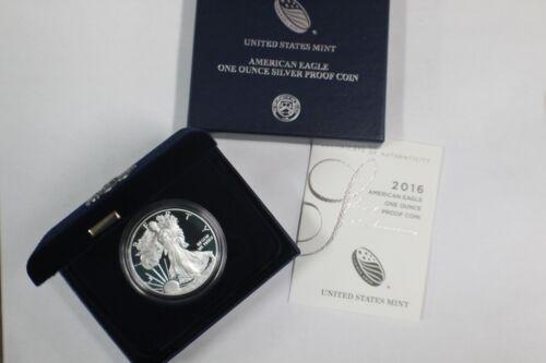 2016 W Proof Silver Eagle W// COA Box