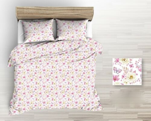 """width 160 cm 63/"""" Meadow floral butterfy 100/% Cotton Printed Fabric,Per meter"""