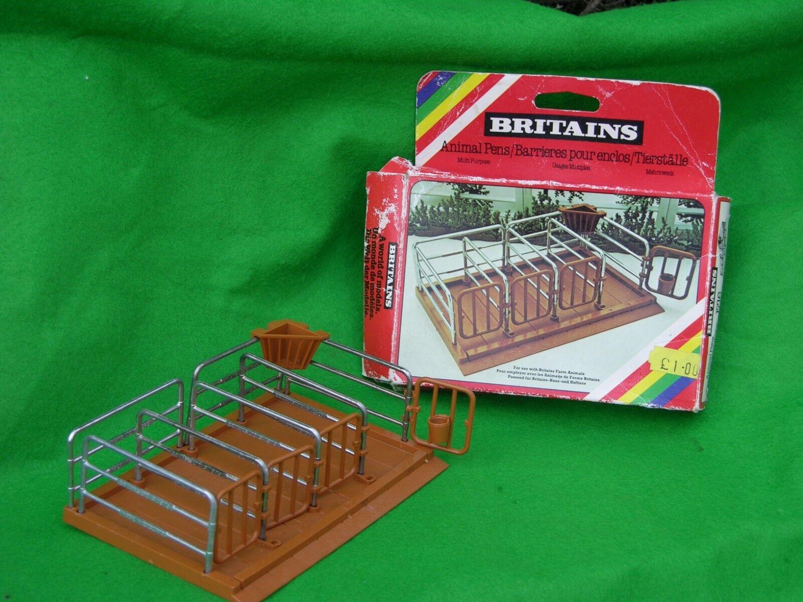 Britains Animales de granja, plumas de ganado, puestos de ordeño, en Caja