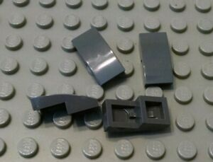 LEGO Lot of 4 Light Bluish Gray 2x1 Curved Inverted Slope Pieces