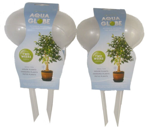 4 x AQUA GLOBE SELF WATERING BULBS HOUSE HANGING PATIO PLANTS INDOOR//OUTDOOR
