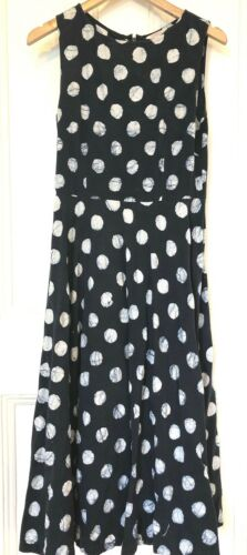 Gorman Navy White Large Polka Dot Batik Cotton  Dr