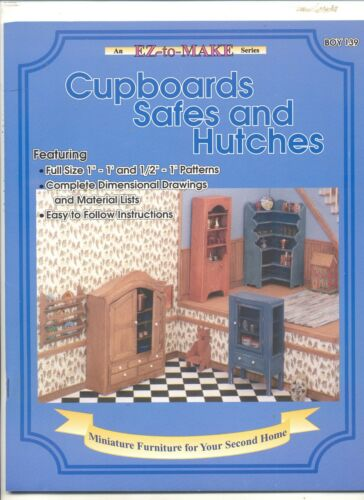"""/""""Cupboards Safes /& Hutches/"""" Booklet 1//12 /& 1//24 scale plans BOY139"""