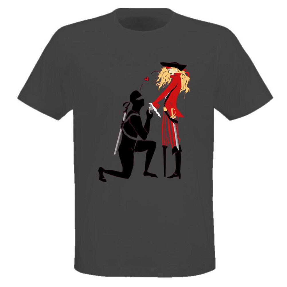 c3cca2580e79 Piratas Vs Love Ninjas Parodia Camiseta de dibujos animados Camiseta de  dibujos animados hombres Unisex Nueva moda camiseta