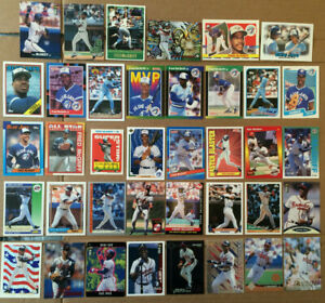 Fred-Mcgriff-LOT-of-44-insert-base-cards-NM-future-hof-1988-1998-Atlanta-Braves