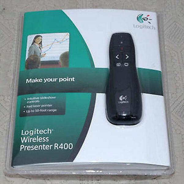 Professional Wireless Logitech R400 Receiver PPT Presenter Red Laser Pointer LK7