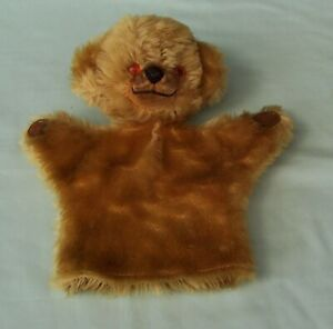 Merrythought-Cheeky-Bear-Glove-Hand-Puppet-Vintage-Mohair-character-Toy-England