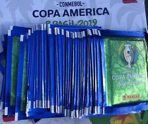 Panini-Copa-America-2019-BRAZIL-50-PACKS-250-Stickers-USA-EDITION