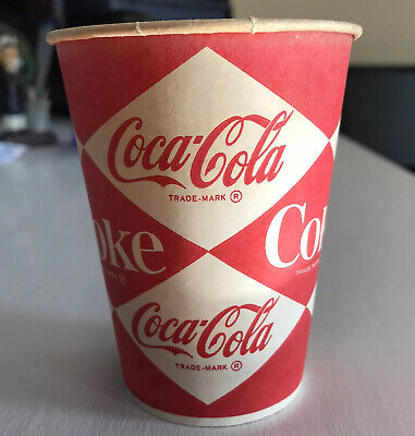 Diamond 1960s Ask For It Either Way Coke Coca Cola 7oz Wax Cup Automatic Vending