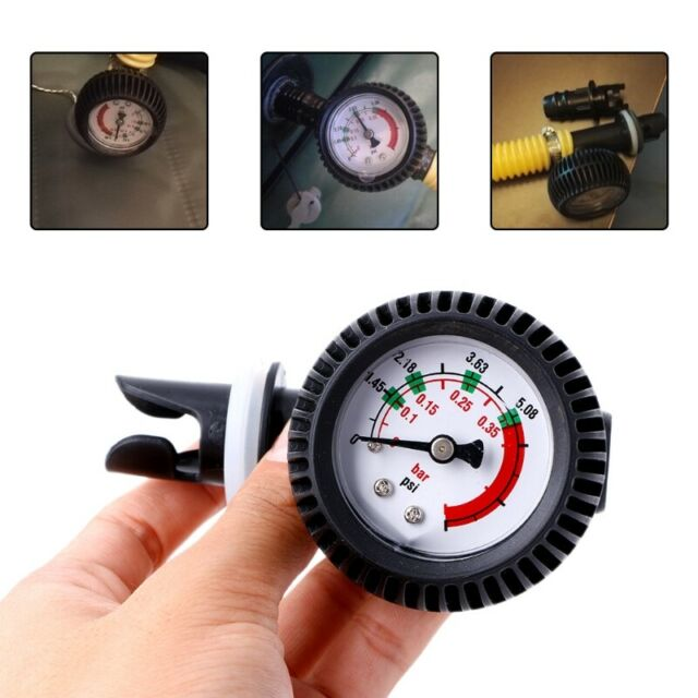 Psi Barometer Pressure Gauge Thermometer Air Valve For Inflatable Boat Kaya G7E5